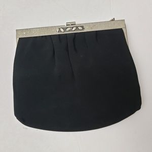 Vintage Bags - Vintage Ande Black Silver Framed Cocktail Handbag
